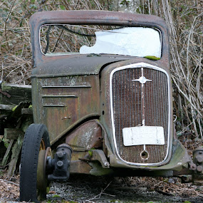 Rust Bucket by Brent Monique Makenzie Moran - Transportation Automobiles ( old, truck, automobile, rusted, auto, rusty, rust, antique,  )