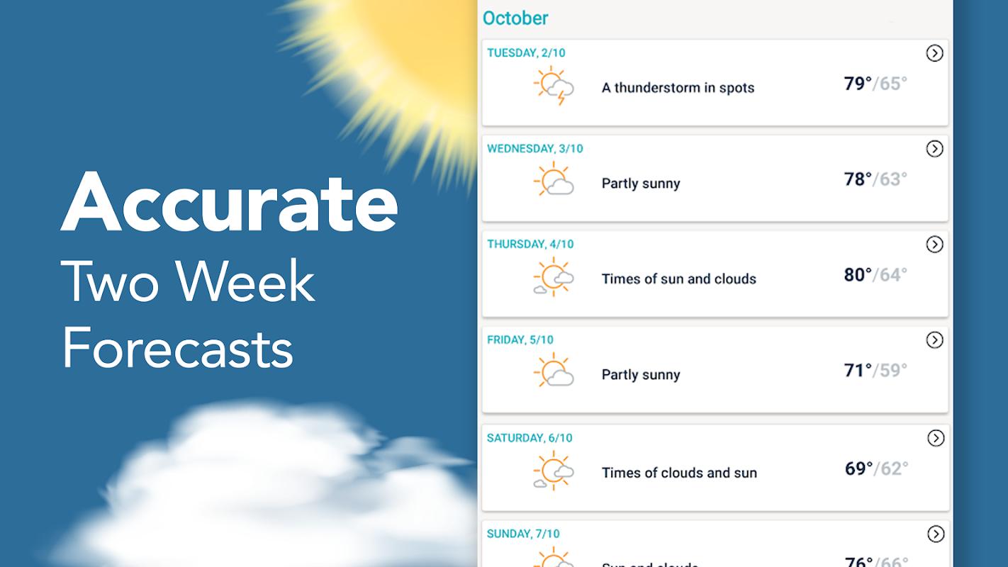AccuWeather: Weather Radar & Live Forecast Maps screenshots