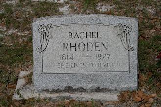 Photo: Rachel Rhoden abt. 1845 to abt. 1927 / Daughter of James J Rhoden and Malinda Moore