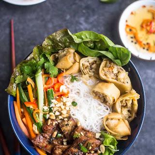 Vietnamese Noodle Bowls (Bun Thit Nuong Cha Gio).