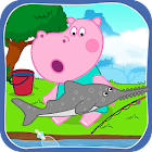 Funny Kids Fishing Games icon