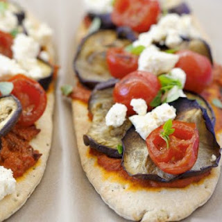 Flatbread Pizzas with Greek Cheese