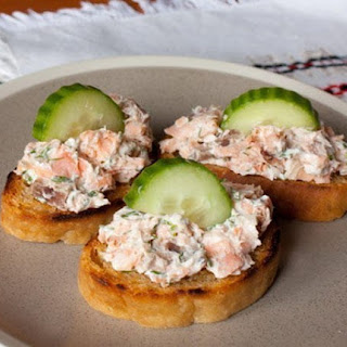Crostini With Smoked Fish And Cheese