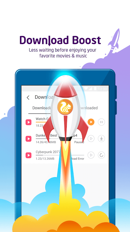 Screenshots of UC Browser - Fast Download Private & Secure for iPhone
