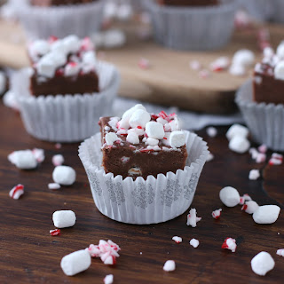 Peppermint Hot Chocolate Fudge