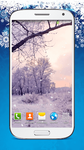 android Snow Live Wallpaper HD Screenshot 5
