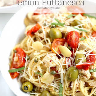 Lemon Puttanesca Pasta.