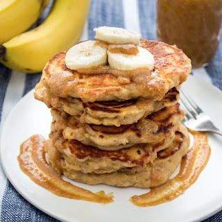 Peanut Butter Banana Kefir Pancakes.