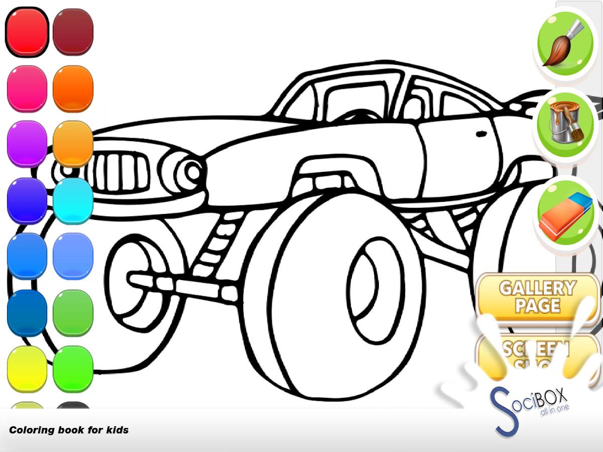 Bonito Monstruo Camión Para Colorear Páginas Gratis Fotos - Ideas ...