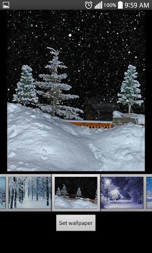 無料个人化Appの降雪ライブ壁紙 記事Game