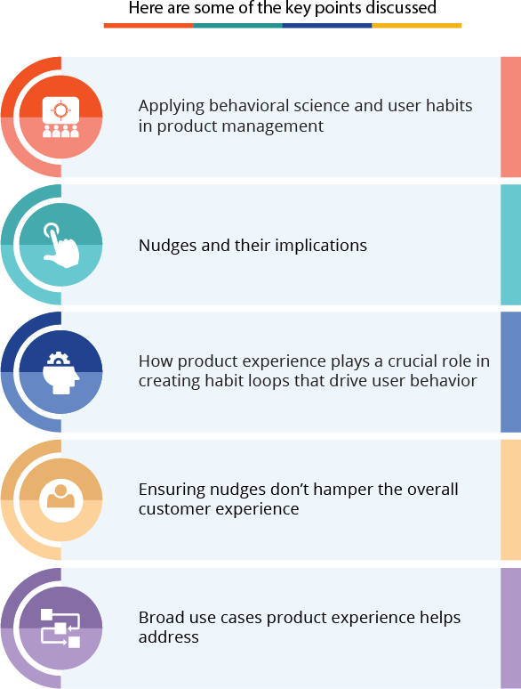 Some of the key points discussed about product management