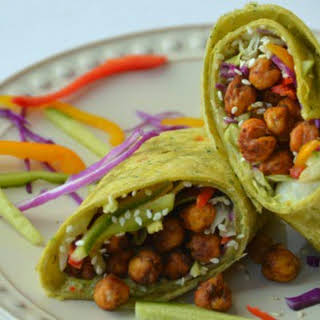 Chickpea Spinach Wraps.