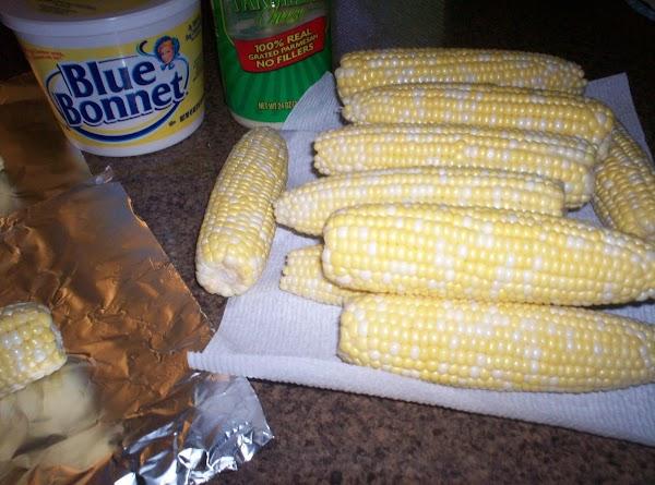 Parmesan Crusted Corn On The Cob Recipe