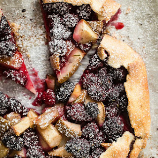 Blackberry and Pear Galette with Rosemary.