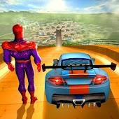 Tải Game Superhero Mega Ramp Car Rider Stunts