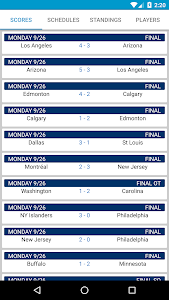 Hockey Score NHL Schedule screenshot 0