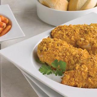 Cornflake Chicken with Vegetables.