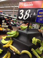 Photo: I didn't have plans on buying bananas, but saw that they were marked down to .38 cents per pound. That's a great price, so I bought 1 bunch of them.