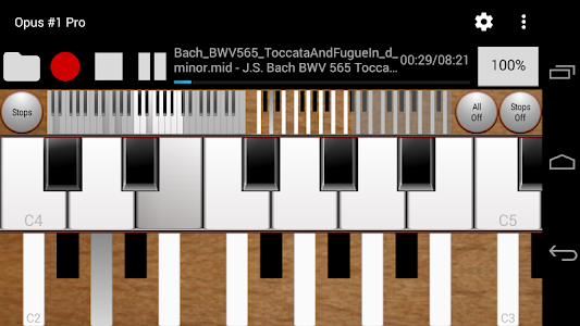 Opus #1 Pro - The Midi Organ screenshot 0