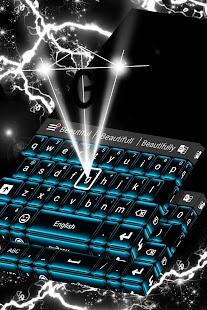 Neon Blue klávesnice zdarma - náhled