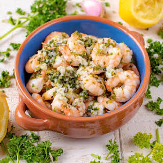 Lemon, Garlic and Herb Prawns (Shrimp).