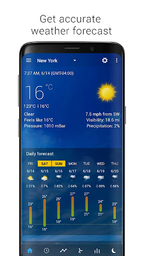 Transparent clock & weather - forecast & radar screenshot 2