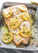 Baked lemon garlic butter salmon