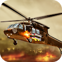 Gunship helicopter robot fighter - army air strike icon