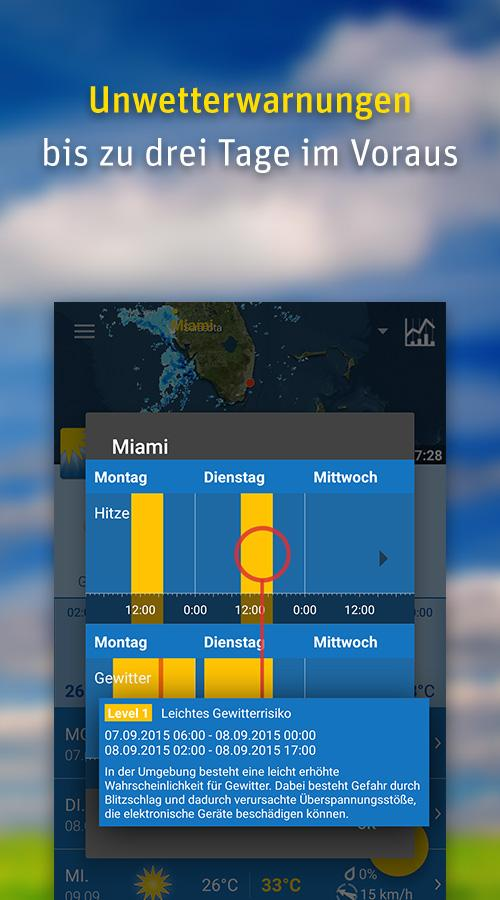 WeatherPro Free: Wetter gratis – Screenshot