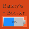 Battery Percentage + Booster icon