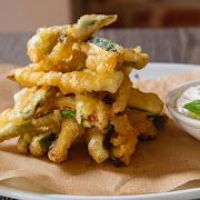 Frittura Di Zucchine E Salsa Al Parmigiano
