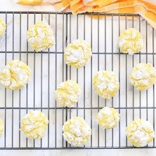 Lemon Crinkle Cookies {Gluten Free}.