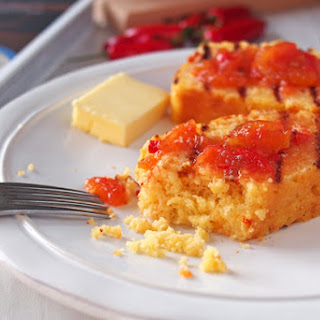 Cheddar Cornbread with Chile Jam