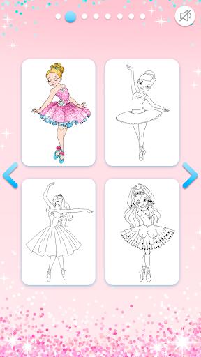 Ballerina Coloring Book Glitter - Girl Games android2mod screenshots 3