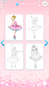 Ballerina Coloring Book Glitter – Girl Games 3