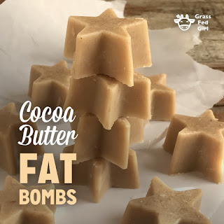 Keto Cocoa Butter Fat Bombs.