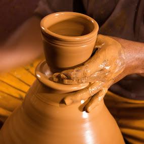 Pots by Shashank Ramesh - Artistic Objects Cups, Plates & Utensils ( clay, street, art, pottery, shutter speed, pots )