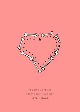 You Give Me Femur - Valentine's Day Card item