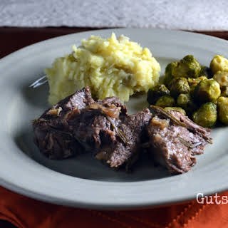 Braised Beef Chuck Roast with Garlic and Rosemary (Instant Pot).
