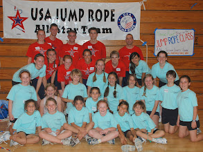Photo: Foothill Force & USA Jump Rope All Stars at Workshop October 2008