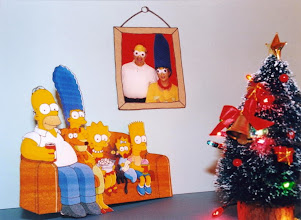 Photo: 2002 -- That year we upgraded our Homer & Marge Simpsons costumes.