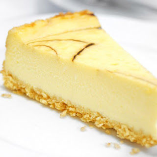 French Lime Cheesecake With Vanilla Wafer Crust.