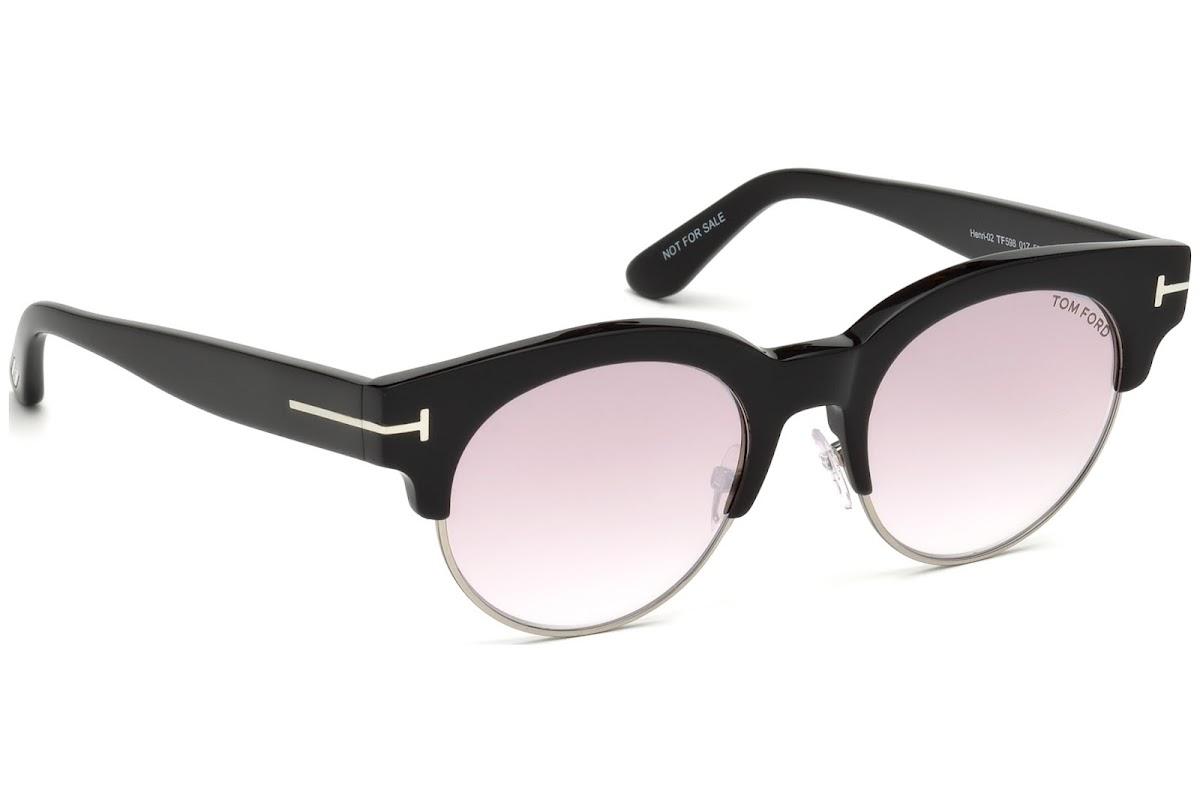 3300b2540dd Sunglasses Tom Ford Henri-02 FT0598 C50 01Z (shiny black   gradient or  mirror violet)
