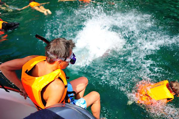 Snorkel fun in the Gulf of Thailand