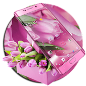 Pink Purple Tulip Flower Theme
