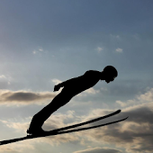 Ski Jumping From Springboard