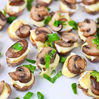 Roasted Potato Bites with Brie & Mushrooms.