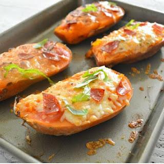 Sweet Potato Pizza Boats.