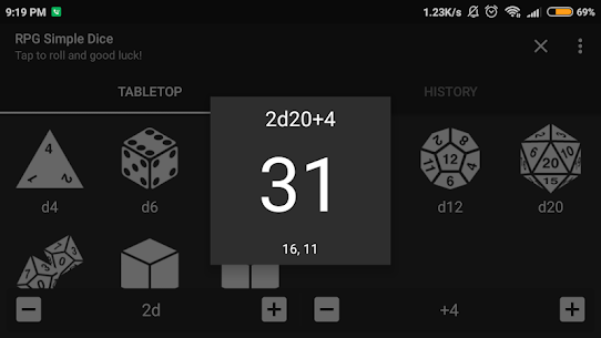 RPG Simple Dice Apk for Android. [DND 5E compaitable] 6