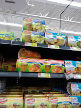 Photo: Finally reached the fruit aisle. The Diced pears were on the top shelf. (I hate top shelf items, when you are short, you can't reach!)